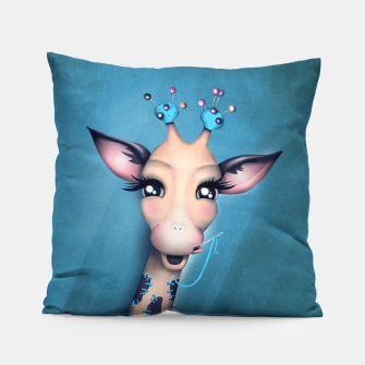 Miniatur Pin Cushion Giraffe Pillow, Live Heroes