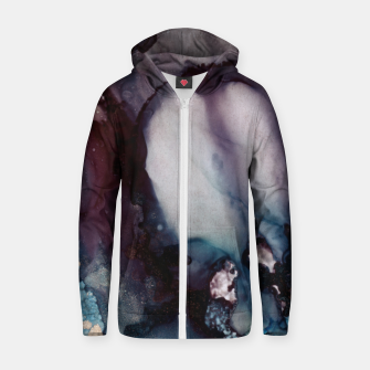Thumbnail image of Vivid Abstract Cotton zip up hoodie, Live Heroes