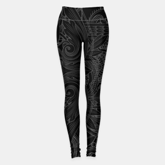Thumbnail image of Brazilian Jiu-jitsu Chess Kings Leggings, Live Heroes