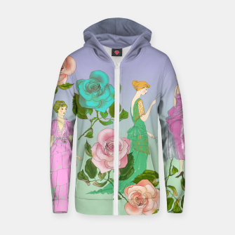 Miniatur  Poetic Garden Cotton zip up hoodie, Live Heroes