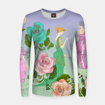 Miniatur  Poetic Garden Woman cotton sweater, Live Heroes