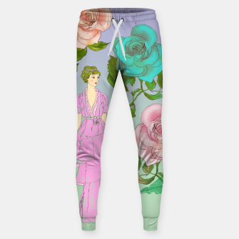 Miniatur  Poetic Garden Cotton sweatpants, Live Heroes