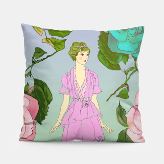 Thumbnail image of  Poetic Garden Pillow, Live Heroes