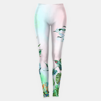 Thumbnail image of Birds in the paradise of the jungle Leggings, Live Heroes