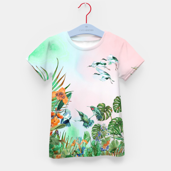Thumbnail image of Birds in the paradise of the jungle Camiseta para niños, Live Heroes