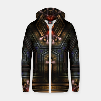 Thumbnail image of Orgatron Cotton zip up hoodie, Live Heroes