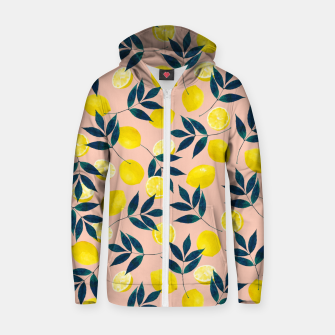 Thumbnail image of Lemony Goodness Cotton zip up hoodie, Live Heroes