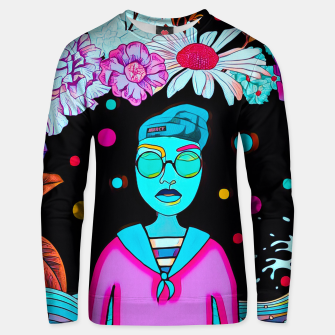 Thumbnail image of Floral waves Cotton sweater, Live Heroes