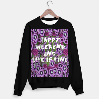 Miniatur forest of climbing flowers and life is fine Sweater regular, Live Heroes