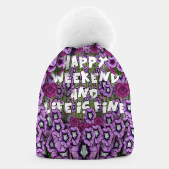 Miniatur forest of climbing flowers and life is fine Beanie, Live Heroes