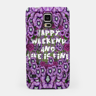 Miniatur forest of climbing flowers and life is fine Samsung Case, Live Heroes