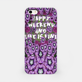 Miniatur forest of climbing flowers and life is fine iPhone Case, Live Heroes