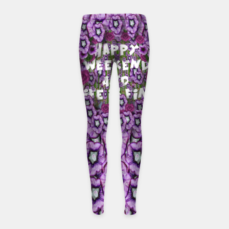 Miniatur forest of climbing flowers and life is fine Girl's leggings, Live Heroes