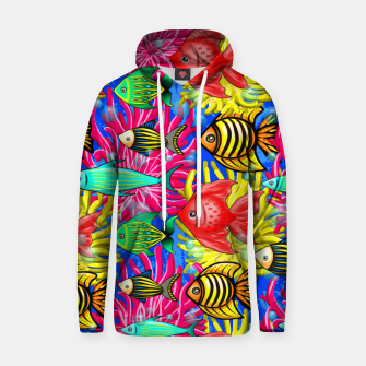 Thumbnail image of Fish Cute Colorful Doodles  Cotton hoodie, Live Heroes