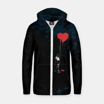 Thumbnail image of Heart Painter Graffiti Love Cotton zip up hoodie, Live Heroes