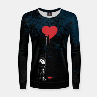 Imagen en miniatura de Heart Painter Graffiti Love Woman cotton sweater, Live Heroes