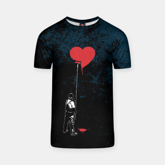 Thumbnail image of Heart Painter Graffiti Love T-shirt, Live Heroes