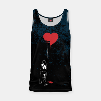 Miniatur Heart Painter Graffiti Love Tank Top, Live Heroes
