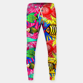 Thumbnail image of Fish Cute Colorful Doodles  Cotton sweatpants, Live Heroes