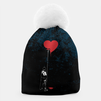 Thumbnail image of Heart Painter Graffiti Love Beanie, Live Heroes