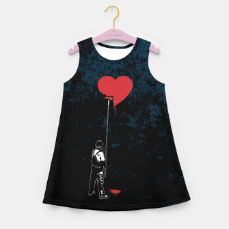 Thumbnail image of Heart Painter Graffiti Love Girl's summer dress, Live Heroes