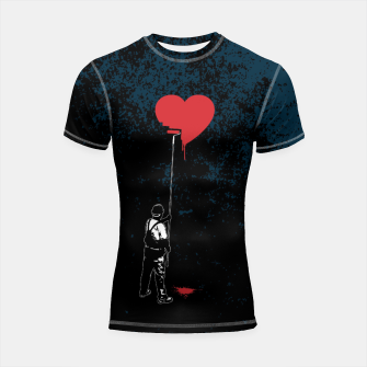 Thumbnail image of Heart Painter Graffiti Love Shortsleeve rashguard, Live Heroes