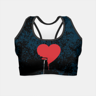 Thumbnail image of Heart Painter Graffiti Love Crop Top, Live Heroes