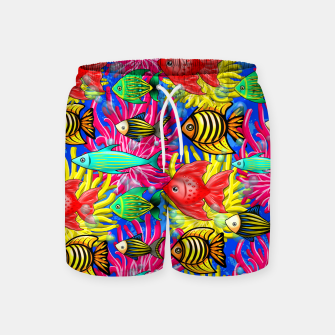 Thumbnail image of Fish Cute Colorful Doodles  Swim Shorts, Live Heroes