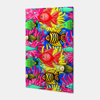Thumbnail image of Fish Cute Colorful Doodles  Canvas, Live Heroes