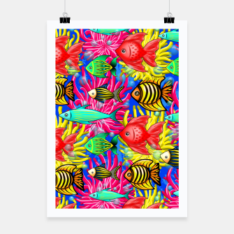 Thumbnail image of Fish Cute Colorful Doodles  Poster, Live Heroes