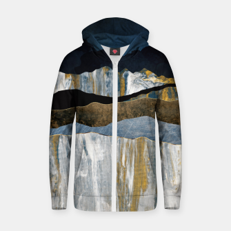 Thumbnail image of Painted Mountains Cotton zip up hoodie, Live Heroes