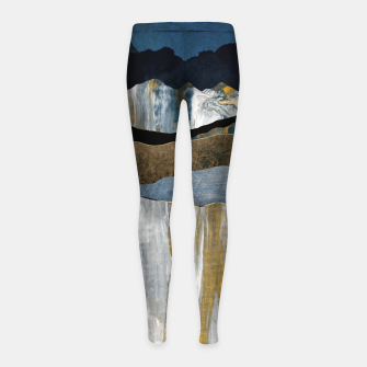 Thumbnail image of Painted Mountains Girl's leggings, Live Heroes