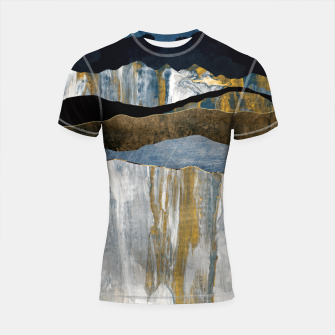 Thumbnail image of Painted Mountains Shortsleeve rashguard, Live Heroes
