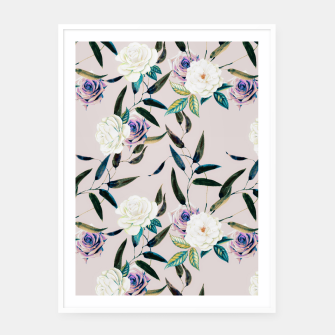 Thumbnail image of Flowery flowers pattern Cartel con marco, Live Heroes