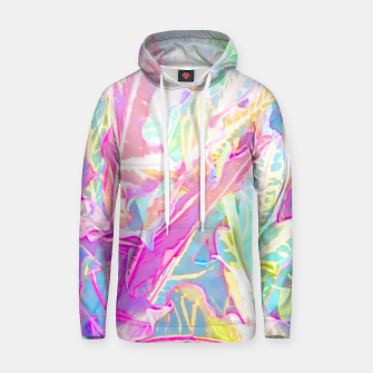 Tropical croton leaves 1/2 Hoodie thumbnail image
