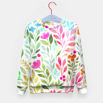 Thumbnail image of Floral circle Kid's sweater, Live Heroes
