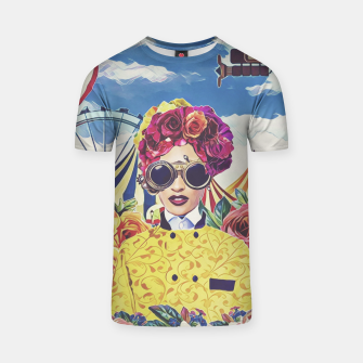 Miniatur Steampunk floral T-shirt, Live Heroes