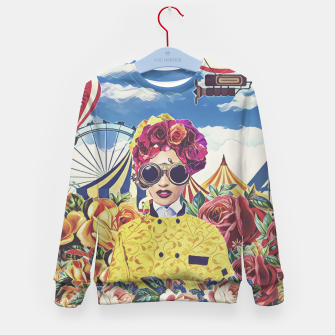 Miniatur Steampunk floral Kid's sweater, Live Heroes