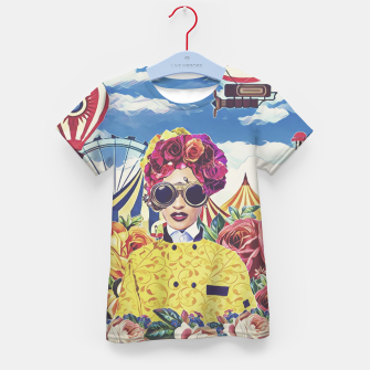 Thumbnail image of Steampunk floral Kid's t-shirt, Live Heroes