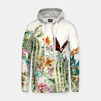 Thumbnail image of Blooming in the cactus Sudadera con capucha de algodón, Live Heroes