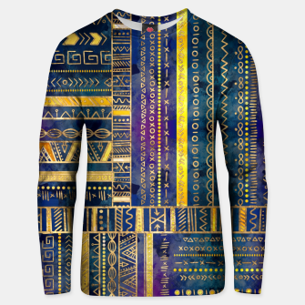 Thumbnail image of Tribal Ethnic pattern gold colorful painted texture Cotton sweater, Live Heroes