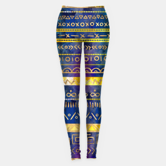 Thumbnail image of Tribal Ethnic pattern gold colorful painted texture Leggings, Live Heroes