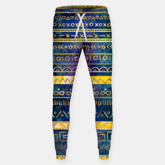 Thumbnail image of Tribal Ethnic pattern gold colorful painted texture Cotton sweatpants, Live Heroes