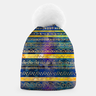 Thumbnail image of Tribal Ethnic pattern gold colorful painted texture Beanie, Live Heroes