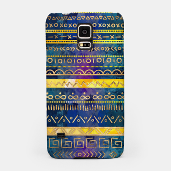 Thumbnail image of Tribal Ethnic pattern gold colorful painted texture Samsung Case, Live Heroes