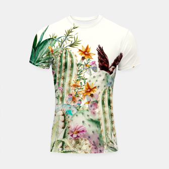 Thumbnail image of Blooming in the cactus Shortsleeve rashguard, Live Heroes