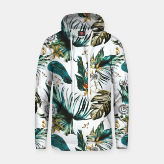 Thumbnail image of Exotic watercolor nature Sudadera con capucha de algodón, Live Heroes