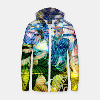 Thumbnail image of D Cotton zip up hoodie, Live Heroes