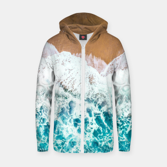 Thumbnail image of Devour Me Cotton zip up hoodie, Live Heroes