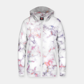 Thumbnail image of Colorful Marble Cotton zip up hoodie, Live Heroes